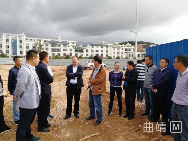 朱家甫、饶丹到重点项目观摩点现场检查指导工作